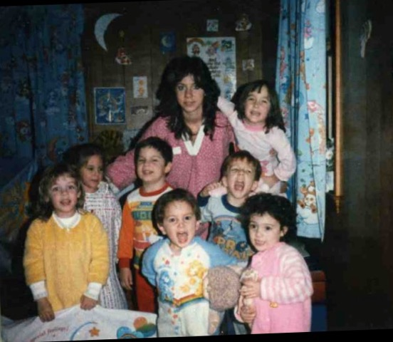 Susan with the First Group of Little Sprouts, 1984