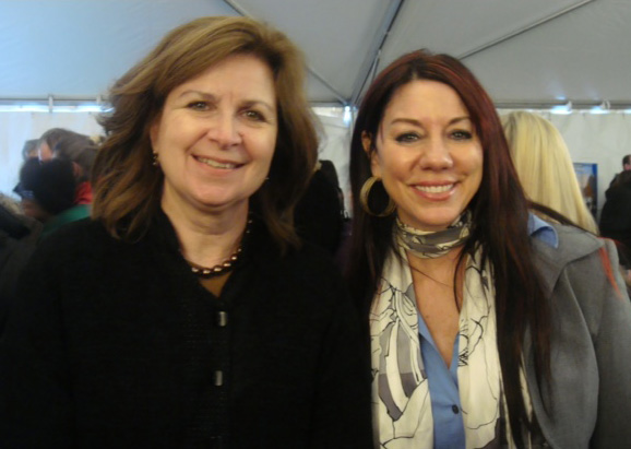 Susan with WGBH VP of Communications Jeanne Hopkins