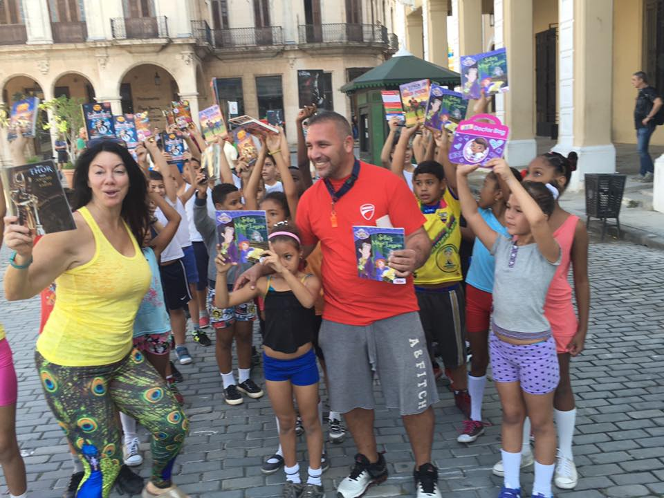 Such an honor to work with @FirstBook to bring 200+ books to students in Cuba.