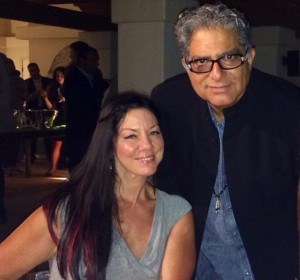Deepak Chopra and Susan collaborating on leadership and wellbeing.