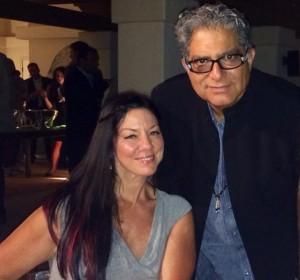 Deepak Chopra and Susan collaborating on leadership and wellbeing.