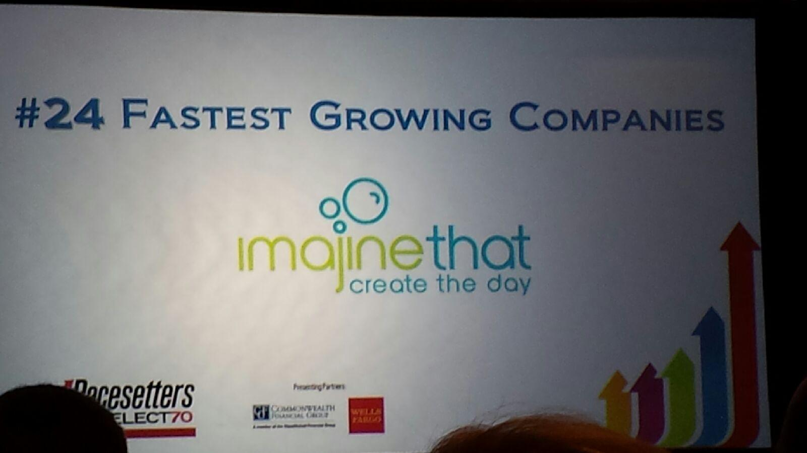 Imajine That is named #24 on the list of Boston's fastest growing companies by the Boston Business Journal.