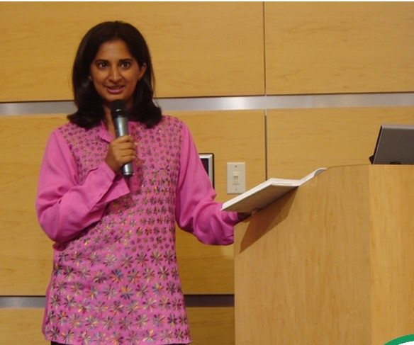 Entrepreneur and author Mallika Chopra presents at a children's conference hosted by Susan and her team.