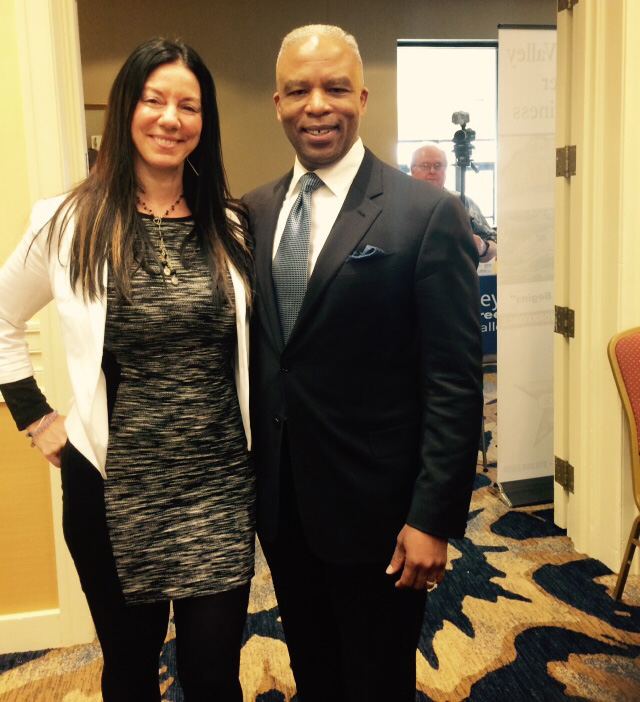 Susan with Secretary Ron Walker of Department of Labor and Workforce Development
