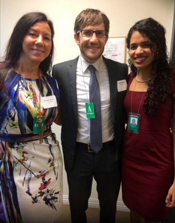 Susan with Maya Shankar, Senior Advisor to the Deputy Director White House Office of Science and Technology Policy Executive Office of the President and Justin Milner of the Urban Institute at the first White House Conference on Bridging the Word Gap.