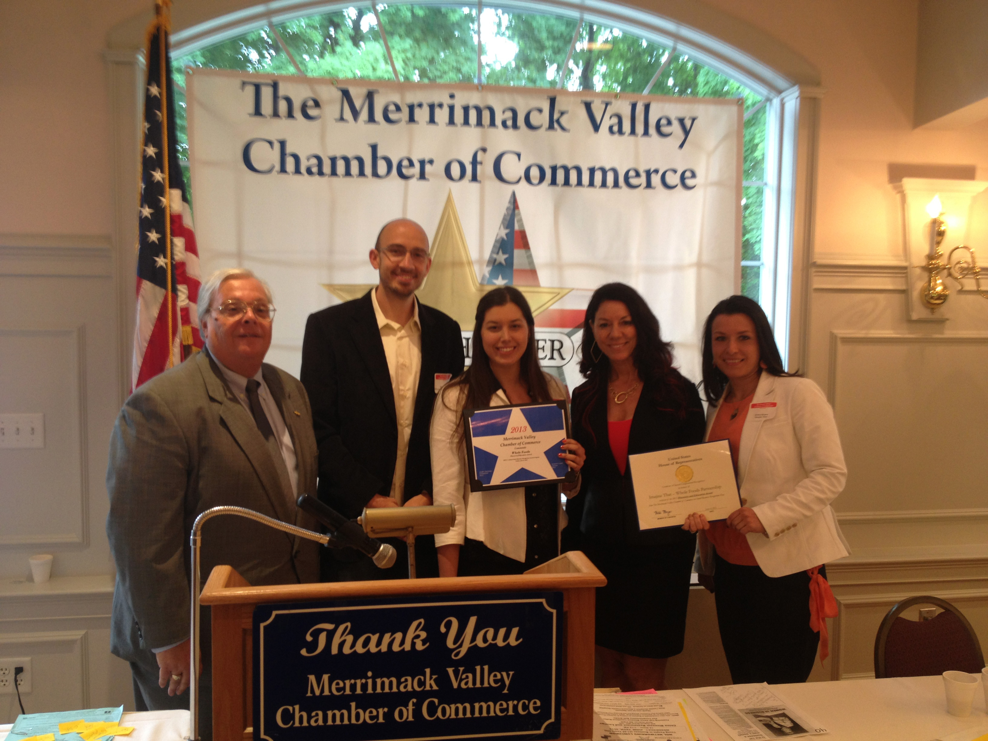 Merrimack Valley Chamber of Commerce - Best Innovative Partnership Award
