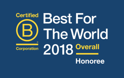 Imajine That Honored as Best For The World,  Creating Positive Impact for Customers, Community and Overall!